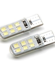 cheap -2pcs T10 Car Light Bulbs 2 W SMD 2835 120 lm 12 LED Side Marker Lights For universal General Motors All years