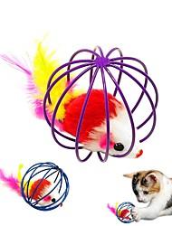 Недорогие -Игровая мышь Игрушка для мышей и животных Коты Животные Игрушки 1шт Животные Вырезы UltraLight Плюш Металл Подарок