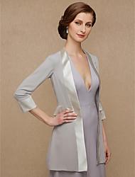 cheap -3/4 Length Sleeve Chiffon / Satin Wedding / Party / Evening Women's Wrap With Splicing Coats / Jackets