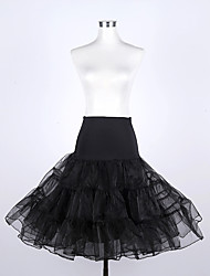 cheap -Petticoat Hoop Skirt Tutu Under Skirt 1950s Cotton Red Red+Black Black / White Petticoat / Crinoline