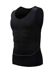 cheap -Men's Compression Tank Top Sleeveless Compression Vest / Gilet Base layer T Shirt Plus Size Lightweight Breathable Quick Dry Soft Sweat-wicking Black Lycra Road Bike Mountain Bike MTB Basketball