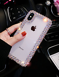 cheap -Case For Apple iPhone XS / iPhone XR / iPhone XS Max Rhinestone Back Cover Solid Colored Hard Acrylic