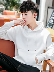 cheap -Men's Sweatshirt Outdoor Windproof Breathable Quick Dry Top Cotton N / A Casual Indoor School Black / White / Red / Grey / Dark Navy