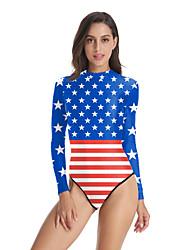 cheap -Swimsuit Jumpsuit Swimwear Cosplay Costumes Beach Girl Adults' Cosplay Costumes Cosplay Halloween Women's Blue Stars Christmas Halloween Carnival / Leotard / Onesie / Leotard / Onesie