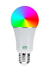 Недорогие -YWXLIGHT® 1шт 7 W Круглые LED лампы Умная LED лампа 600-700 lm E26 / E27 20 Светодиодные бусины SMD 5730 Контроль APP Smart Диммируемая RGBW 85-265 V