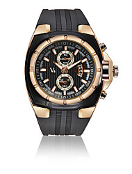 cheap -V6 Men's Sport Watch Dress Watch Wrist Watch Quartz Luxury Calendar / date / day Analog Rose Gold Black Silver / One Year / Leather / Shock Resistant