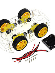 cheap -4 wheel smart car chassis diy kit code wheel speed tracking bluetooth remote control car accessories