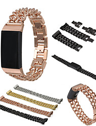 cheap -Watch Band for Fitbit Charge 3 Fitbit Sport Band Stainless Steel Wrist Strap