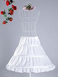 cheap -Petticoat Hoop Skirt Tutu Under Skirt 1950s White Petticoat / Kid's / Crinoline