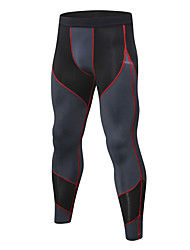 cheap -Men's Compression Pants Compression Base Layer Tights Bottoms Plus Size Lightweight Breathable Quick Dry Soft Sweat-wicking Black / Red Bule / Black Black / Green Winter Road Bike Fitness Mountain