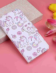 cheap -Case For Motorola MOTO G6 / Moto G6 Plus Wallet / Card Holder / with Stand Full Body Cases Unicorn / Ice Cream Hard PU Leather