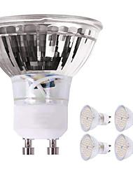 cheap -4pcs 5 W LED Spotlight 450 lm GU10 60 LED Beads SMD 2835 Decorative Lovely Warm White Cold White 220-240 V
