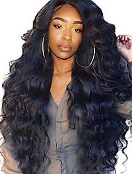 cheap -Human Hair Lace Front Wig Side Part style Brazilian Hair Wavy Body Wave Natural Wig 250% Density with Baby Hair Best Quality Hot Sale Thick Natural Hairline Women's Long Human Hair Lace Wig Dolago