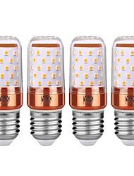 cheap -YWXLIGHT® 4PCS E27 12W 1200LM LED Globe Bulbs  LED Candle Lights  LED Corn Lights 60LED SMD 2835 Cold White  Warm White 85-265V Gold