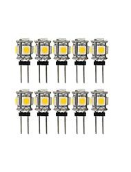 cheap -10pcs 2 W LED Bi-pin Lights 100 lm G4 T 5 LED Beads SMD 5050 Lovely Warm White Cold White 12 V