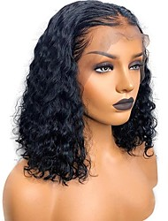cheap -Human Hair Unprocessed Human Hair Lace Front Wig Deep Parting Free Part Rihanna style Brazilian Hair Curly Natural Wig 130% Density with Baby Hair Natural Hairline For Black Women 100% Hand Tied With