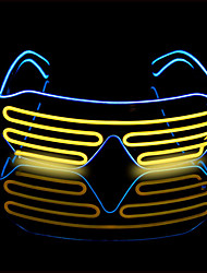 cheap -Eyeglass LED Mask Cool Creative Decoration AA Batteries Powered 1 set