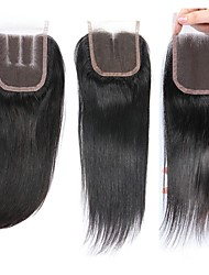 cheap -1 Bundle Brazilian Hair Straight Virgin Human Hair Remy Human Hair Natural Color Hair Weaves / Hair Bulk Human Hair Extensions 8-20inch Natural Color Human Hair Weaves Newborn Waterfall Cute Human