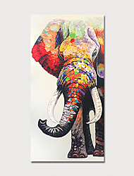 cheap -Hand Painted Canvas Oil Painting Abstract Elephant By Knife Home Decoration With Frame Painting Ready To Hang