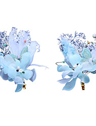 cheap -Tulle Hair Clip with Flower One Pair Wedding / Congratulations Headpiece