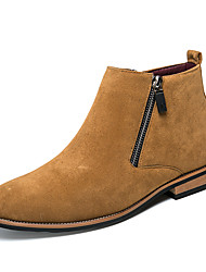 cheap -Men's Suede Shoes Suede Spring & Summer / Fall & Winter Vintage / British Boots Breathable Black / Brown / Gray / Office & Career / Combat Boots