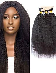 Недорогие -4 Связки Бразильские волосы Естественные прямые Не подвергавшиеся окрашиванию 400 g Человека ткет Волосы Пучок волос One Pack Solution 8-28inch Естественный цвет Ткет человеческих волос