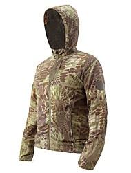 cheap -Esdy Men's Hiking Skin Jacket Hiking Jacket Winter Outdoor Camo Windproof Sunscreen Ultra thin Jacket Hoodie Top Single Slider Fishing Climbing Camping / Hiking / Caving Black / Army Green