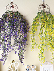 cheap -Artificial Plants Plastic Modern Contemporary Vine Wall Flower Vine 1