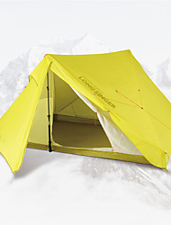 cheap -LONGSINGER 2 person Family Tent Outdoor Breathability YKK Zipper Double Layered Poled Camping Tent 2000-3000 mm for Camping / Hiking / Caving Traveling Nylon 235*165*125    215*145*115 cm