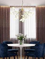 cheap -27-Light 80 cm Chandelier Copper Glass Sputnik / Industrial Brass Nature Inspired / Chic & Modern 110-120V / 220-240V