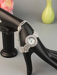 cheap -FEIS Women's Bracelet Watch Fashion Silver Gold Alloy Quartz Gold Silver Creative 1 pc Analog - Digital