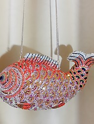 cheap -Women's Bags Alloy Evening Bag Crystals Hollow-out Animal Character for Wedding / Party / Event / Party Rainbow / Rhinestone Crystal Evening Bags