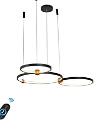cheap -1-Light 75 cm Creative Adjustable Chandelier Aluminum Circle Geometrical Painted Finishes LED Modern 110-120V 220-240V
