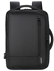 cheap -Waterproof / Shock Absorption School Bag Unisex Nylon Zipper Solid Color Daily Black