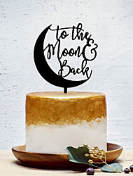 cheap -Cake Topper Classic Theme / Creative / Wedding Artistic / Retro / Unique Design Acrylic Wedding / Birthday with Solid 1 pcs OPP