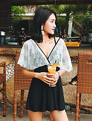 abordables -Femme Robes de Natation Maillots de Bain Protection solaire UV Respirable Natation Snorkeling Couleur Pleine Eté / Micro-élastique