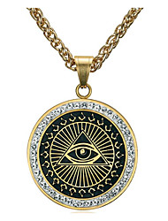 cheap -Men's Cubic Zirconia Pendant Necklace Classic Totem Series Eyes Fashion Titanium Steel Gold Silver 60 cm Necklace Jewelry 1pc For Daily Holiday