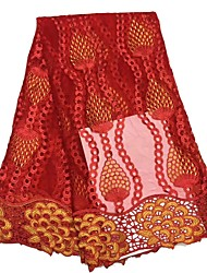 cheap -African lace Florals Pattern 120 cm width fabric for Apparel and Fashion sold by the 5Yard