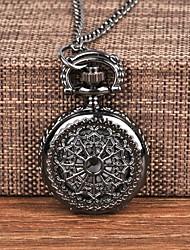 cheap -Men's Pocket Watch Quartz Bronze Casual Watch Analog Fashion Skeleton - Black