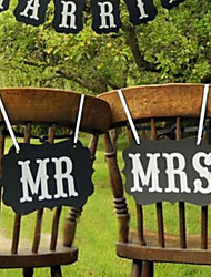cheap -Photo Booth Props & Signs Cardboard Wedding Decorations Wedding Romance / Creative / Wedding All Seasons