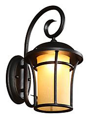 cheap -QINGMING® Waterproof / Mini Style Retro / Country Flush Mount wall Lights / Outdoor Wall Lights Outdoor / Garden Metal Wall Light IP65 110-120V / 220-240V 60 W