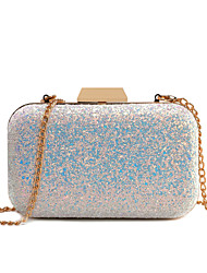 cheap -Women's Glitter PU Evening Bag Blushing Pink / Gold / Blue