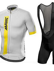 Недорогие -Mavic разнообразие с короткими рукавами нагрудник шорты джерси костюмы велосипеды мужчины и женщины влаги пот верхняя одежда