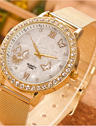 cheap -Women's Quartz Watches Quartz Butterly Style Rhinestone Casual Watch Analog Gold / One Year / Stainless Steel / One Year
