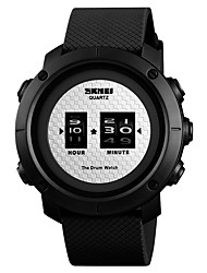 cheap -SKMEI Men's Sport Watch Quartz Silicone Black / Green 50 m Water Resistant / Waterproof Cool Large Dial Digital Outdoor New Arrival - Green Pink Black / White