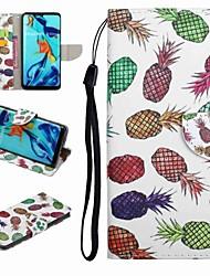 Недорогие -Кейс для Назначение Huawei Honor 9 / Honor 8 / Huawei Honor 7 Бумажник для карт / со стендом / Флип Чехол Продукты питания / Мультипликация Твердый Кожа PU