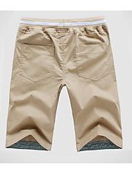 cheap -Men's Basic Shorts Pants - Solid Colored Navy Blue Light Blue Khaki XXXL XXXXL XXXXXL