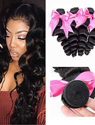 cheap -6 Bundles Malaysian Hair Loose Wave Unprocessed Human Hair 100% Remy Hair Weave Bundles Natural Color Hair Weaves / Hair Bulk Bundle Hair One Pack Solution 8-28 inch Natural Color Human Hair Weaves