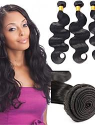 Недорогие -6 Связок Индийские волосы Естественные кудри человеческие волосы Remy 300 g Человека ткет Волосы Пучок волос One Pack Solution 8-28inch Естественный цвет Ткет человеческих волос / Необработанные