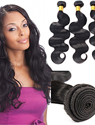 cheap -6 Bundles Indian Hair Body Wave Remy Human Hair Natural Color Hair Weaves / Hair Bulk Bundle Hair One Pack Solution 8-28inch Natural Color Human Hair Weaves Newborn Cute Mini Human Hair Extensions